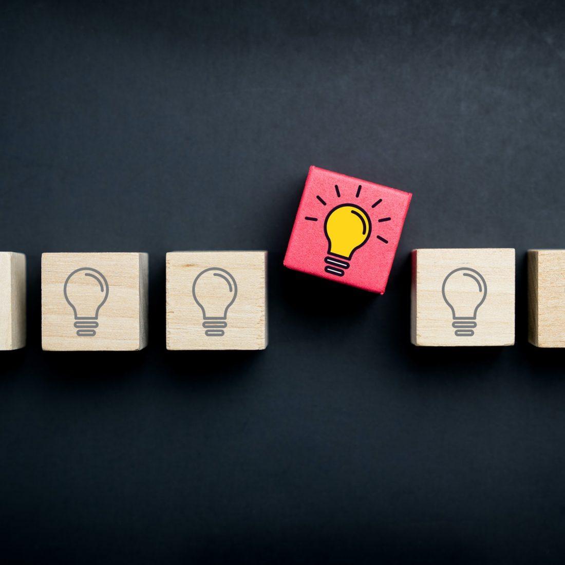 Innovation and creative idea concept